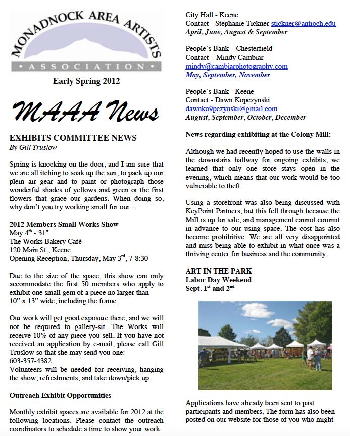 d78e0f7ea6 Spring 2012 Newsletter